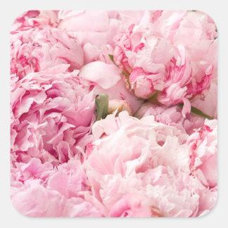 Pink Peony Wedding Stickers