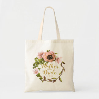 Pink Peony Wreath Mother of the Bride ID456 Tote Bag