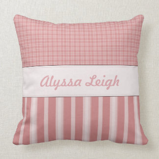 Pink Personalized Baby Nursery Pillow