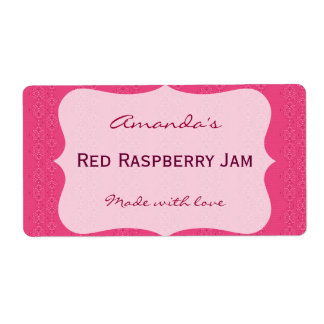 Pink Personalized Canning Label Shipping Label