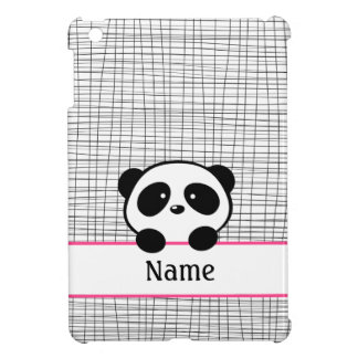 Pink Personalized Panda Bear iPad Case