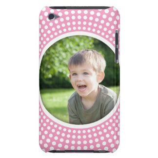 Pink personalized photo iPod touch case