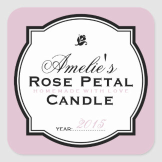 PINK | PERSONALIZED SOAP & CANDLE STICKER