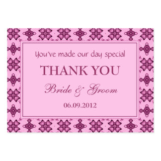 Pink Personalized Wedding Favor Gift Tags Pack Of Chubby Business Cards