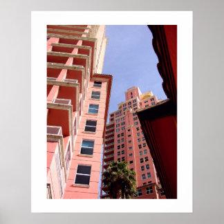 Pink Perspective: Art Deco Poster