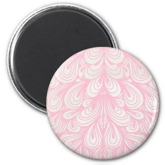 Pink Petals 2 Inch Round Magnet