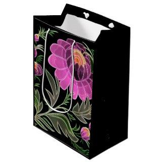 Pink Petals Art Deco Medium Gift Bag