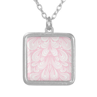 Pink Petals Silver Plated Necklace