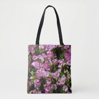 Pink Petunia Flower Tote Bag