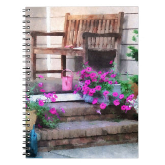 Pink Petunias and Watering Cans Notebook