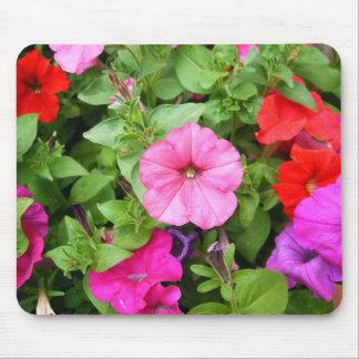 Pink Petunias Mouse Pad