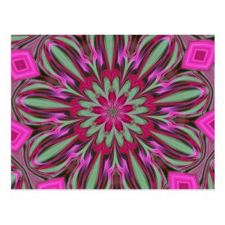 Pink Phlox Kaleidoscope Series Postcard