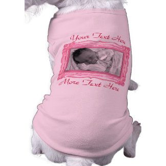 Pink Photo Frame Pet Clothing