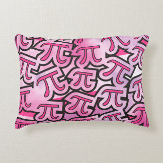 pink pi - pi day gift accent pillow