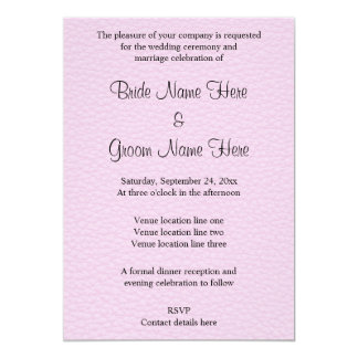 Pink Picture of Leather, Wedding Design Card
