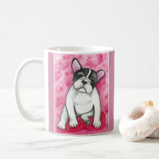 Pink Pied French Bulldog mug