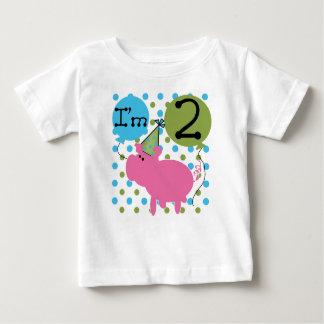 Pink Pig 2nd Birthday Baby T-Shirt