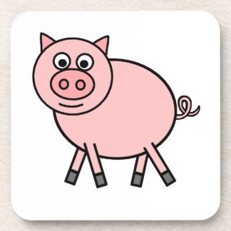 Pink Pig Beverage Coaster