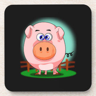 Pink Pig Coaster