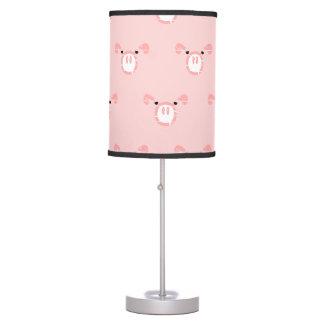 Pink Pig Face Pattern Desk Lamps