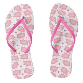 Pink Pig Flip Flops