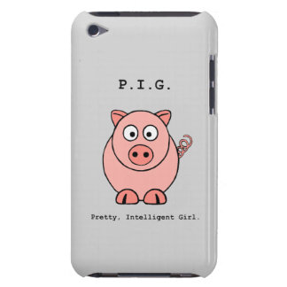 Pink Pig Humor iPod Touch Case