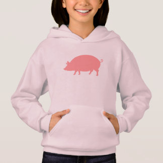 Pink Pig in Silhouette