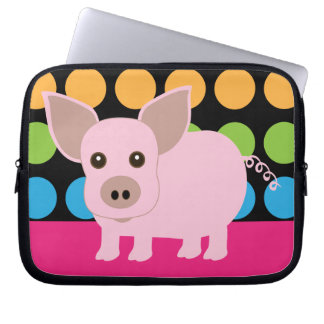 Pink Pig Laptop Sleeve