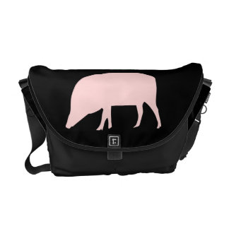 Pink Pig Messenger Bag