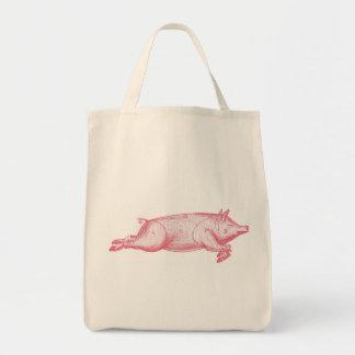 Pink Pig Organic Grocery Tote