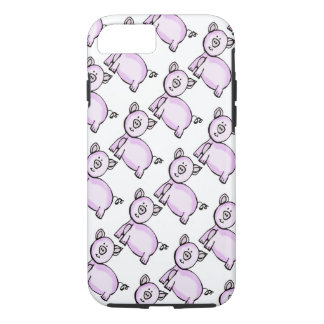 Pink pig parade iPhone 7 case