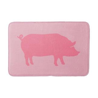 Pink Pig Silhouette Bath Mat