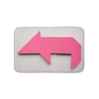 Pink pig Tangram Bath Mat