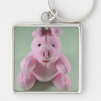 Pink pig toy key chain