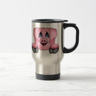 Pink Pig Travel Coffee Mug