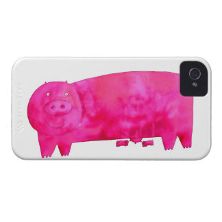 Pink Pig with Piglets Case-Mate iPhone 4 Case