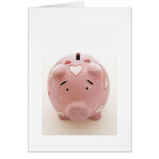 Pink Piggy Bank Card