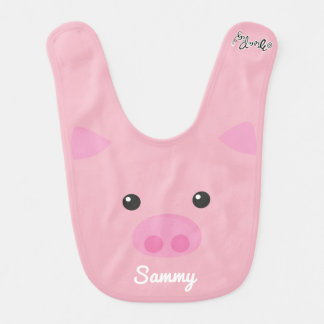 Pink Piggy Face Bib