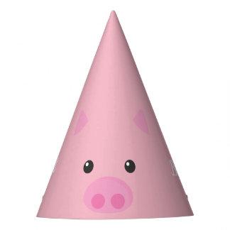 Pink Piggy Face Party Hat