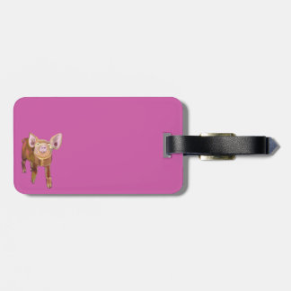 Pink Piggy Luggage Tag
