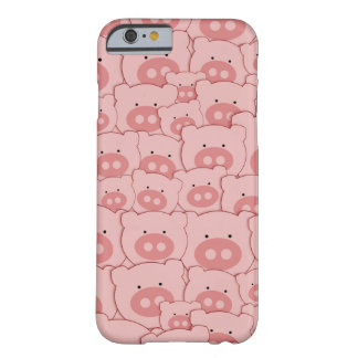 Pink Piggy Pigs Pattern Barely There iPhone 6 Case