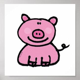 Pink piggy poster