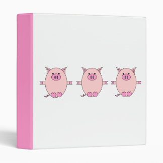 Pink Piggy Power Binder
