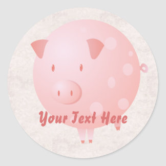 Pink Piggy Stickers