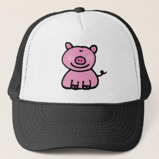 Pink piggy trucker hat