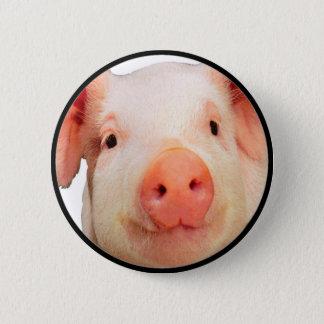 """""""Pink Piglet"""" 2 Inch Round Button"""
