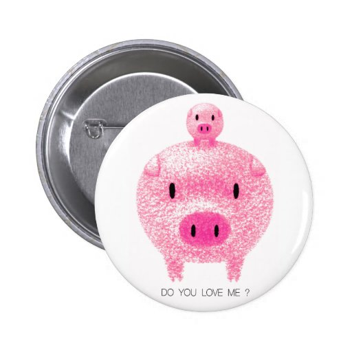 Pink Pigs Pinback Buttons