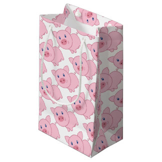 Pink Pigs Small Gift Bag