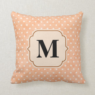 Pink pillow personalized with letter