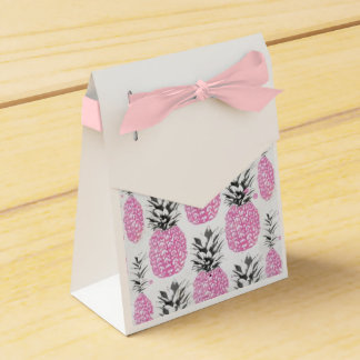 Pink Pineapple Favor Ribbon Box